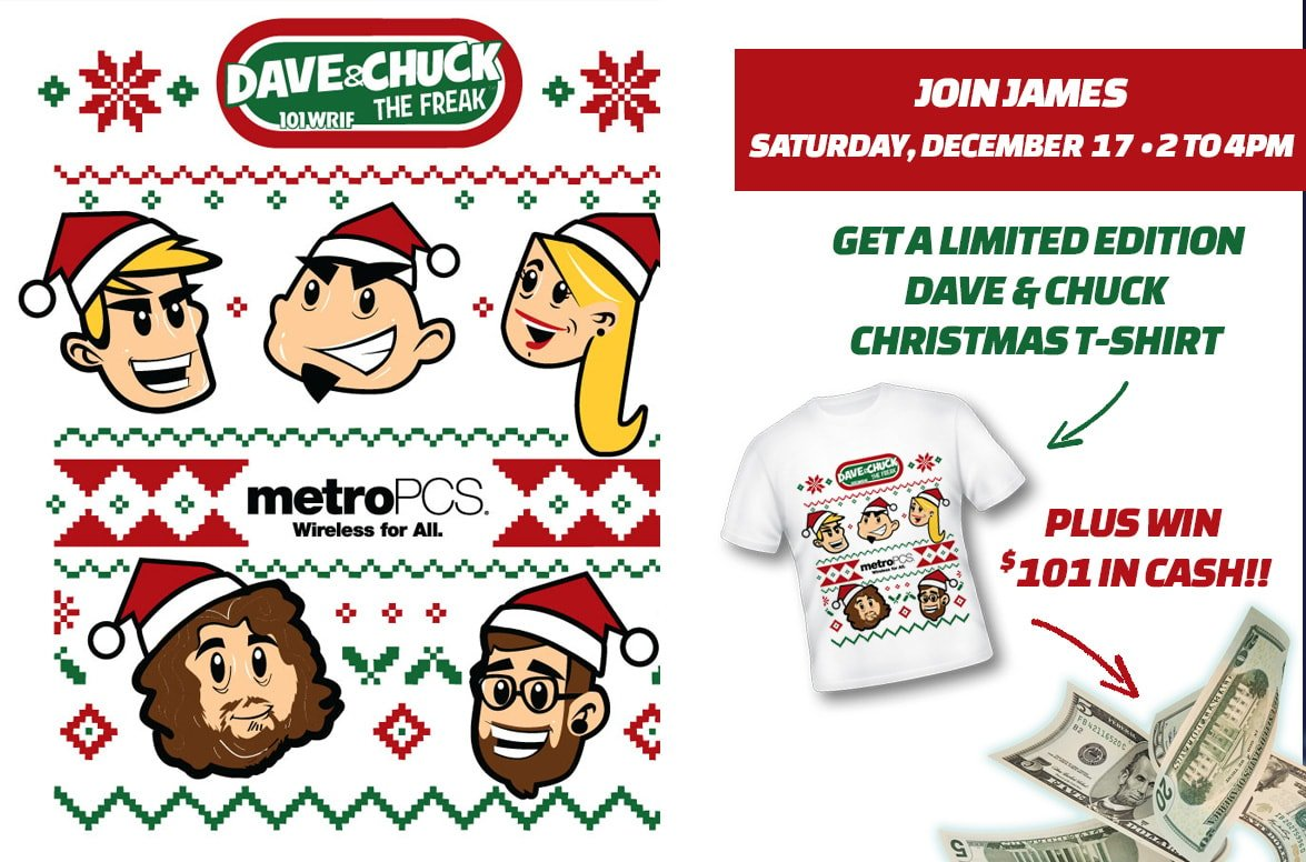 MetroPCS Ugly Christmas Sweater Event - Score a limited edition Dave ...