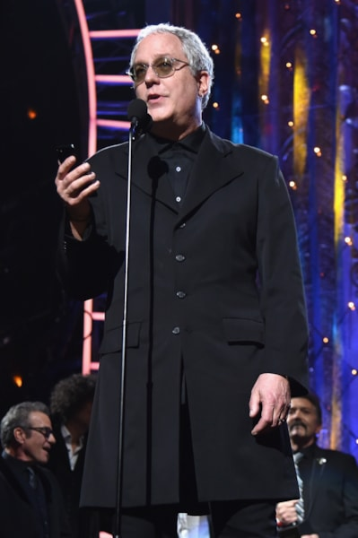 CLEVELAND, OH - APRIL 14:  Inductee Hugh McDonald of Bon Jovi speaks onstage during the 33rd Annual Rock & Roll Hall of Fame Induction Ceremony at Public Auditorium on April 14, 2018 in Cleveland, Ohio.  (Photo by Theo Wargo/Getty Images For The Rock and Roll Hall of Fame)
