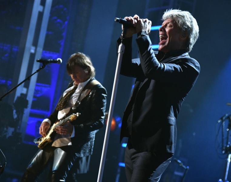 CLEVELAND, OH - APRIL 14:  Bon Jovi performs during the 33rd Annual Rock & Roll Hall of Fame Induction Ceremony at Public Auditorium on April 14, 2018 in Cleveland, Ohio.  (Photo by Theo Wargo/Getty Images For The Rock and Roll Hall of Fame)