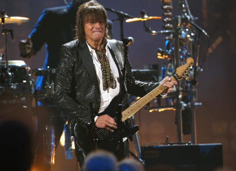 CLEVELAND, OH - APRIL 14:  Richie Sambora of  Bon Jovi perfroms during the 33rd Annual Rock & Roll Hall of Fame Induction Ceremony at Public Auditorium on April 14, 2018 in Cleveland, Ohio.  (Photo by Kevin Kane/Getty Images For The Rock and Roll Hall of Fame)