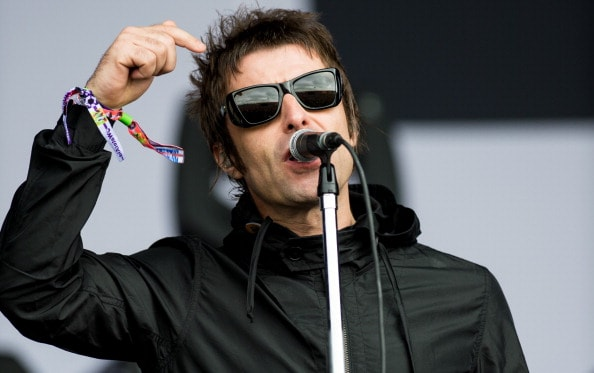 GLASTONBURY, ENGLAND - JUNE 28: Liam Gallagher of 'Beady Eye' performs live on the Other Stage at day 2 of the 2013 Glastonbury Festival at Worthy Farm on June 28, 2013 in Glastonbury, England. (Photo by Ian Gavan/Getty Images)