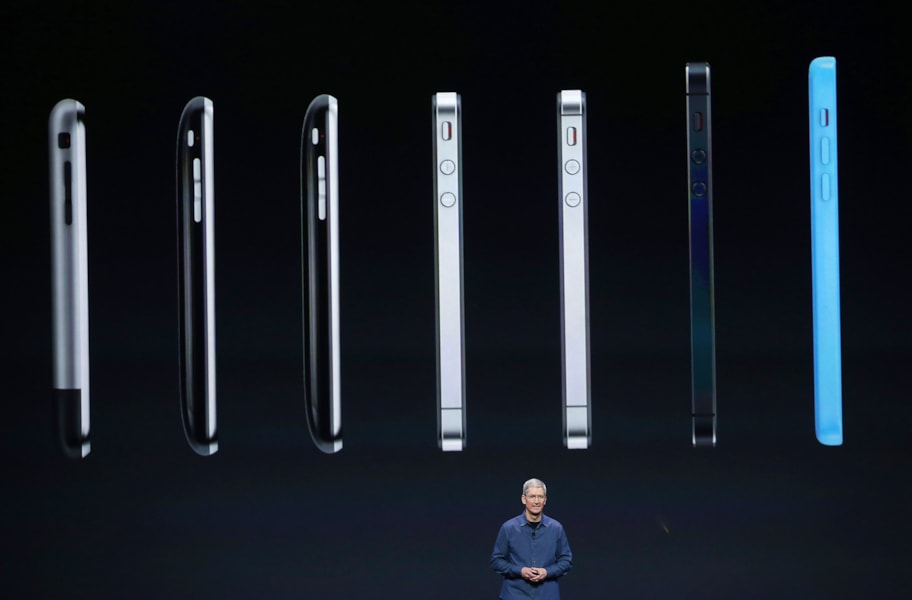 CUPERTINO, CA - SEPTEMBER 09:  Apple CEO Tim Cook speaks about the iPhone 6 during an Apple special event at the Flint Center for the Performing Arts on September 9, 2014 in Cupertino, California. Apple is expected to unveil the new iPhone 6 and wearble tech.  (Photo by Justin Sullivan/Getty Images)
