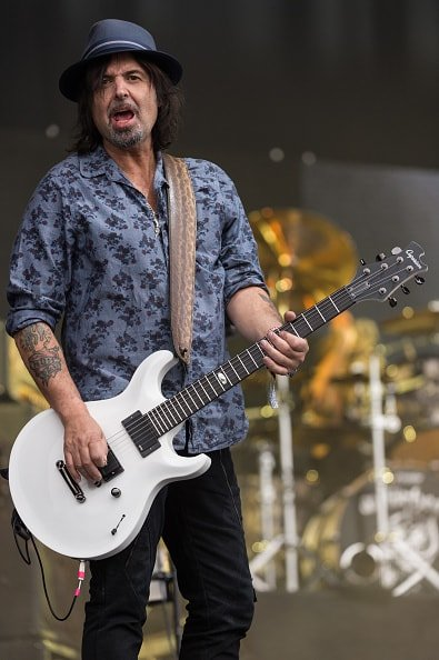 GLASTONBURY, ENGLAND - JUNE 26: Phil Campbell from Motorhead performs on The Pyramid Stage during the Glastonbury Festival at Worthy Farm, Pilton on June 26, 2015 in Glastonbury, England.  Now its 45th year the festival is one largest music festivals in the world and this year features headline acts Florence and the Machine, Kanye West and The Who. The Festival, which Michael Eavis started in 1970 when several hundred hippies paid just £1, now attracts more than 175,000 people.  (Photo by Ian Gavan/Getty Images)