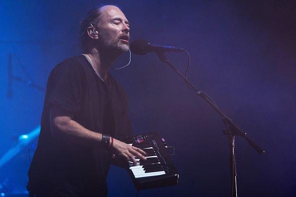 GLASTONBURY, ENGLAND - JUNE 23:  Thom Yorke of Radiohead performs on day 2 of the Glastonbury Festival 2017 at Worthy Farm, Pilton on June 23, 2017 in Glastonbury, England.  (Photo by Ian Gavan/Getty Images)