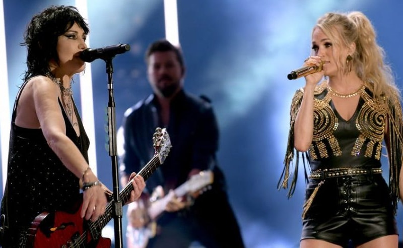 Joan Jett Joins Carrie Underwood On Stage At CMA Fest