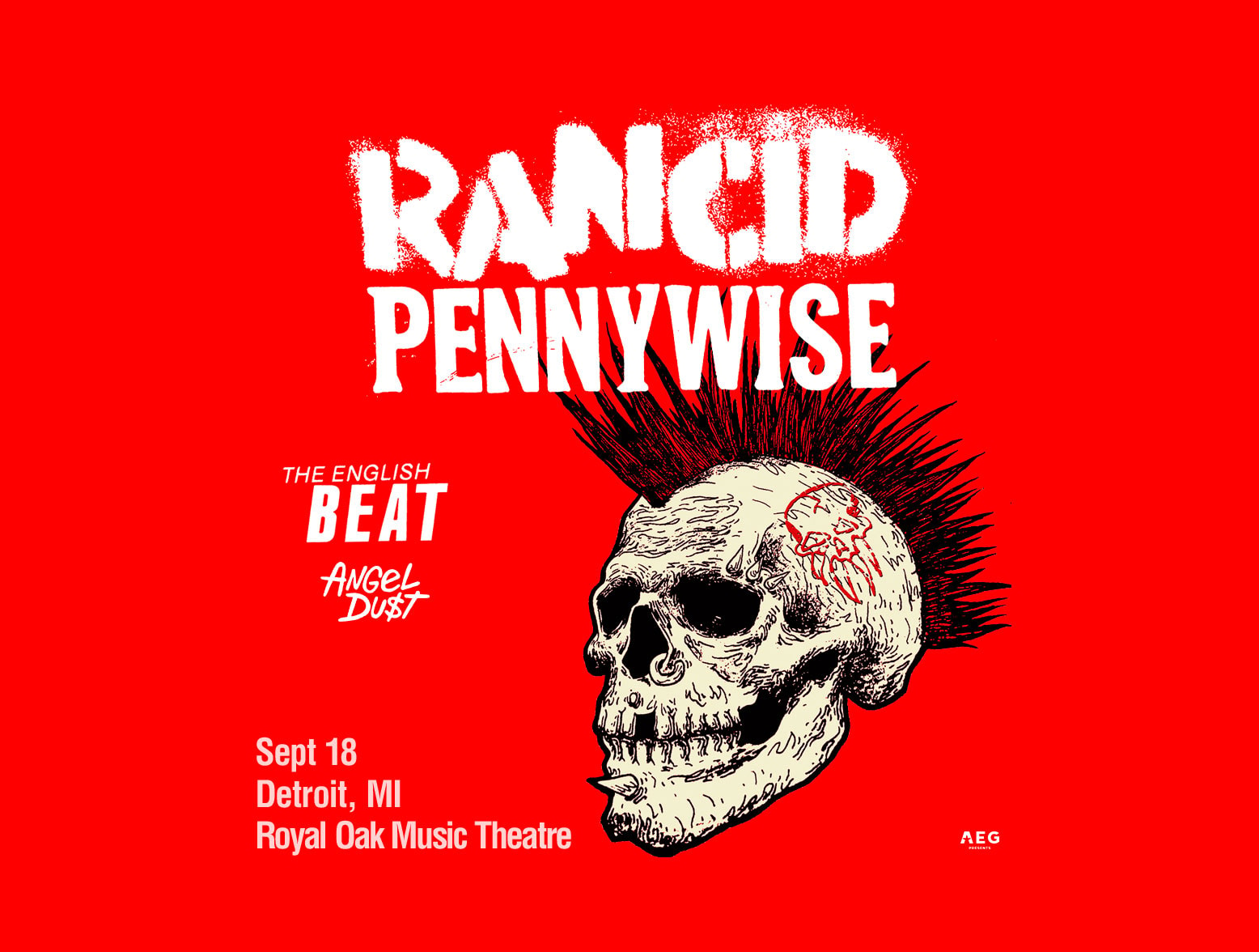 Rancid Wsg Pennywise And More Now At Royal Oak Music Theatre