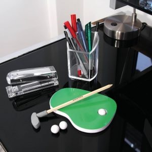mini golf desk top stationery set